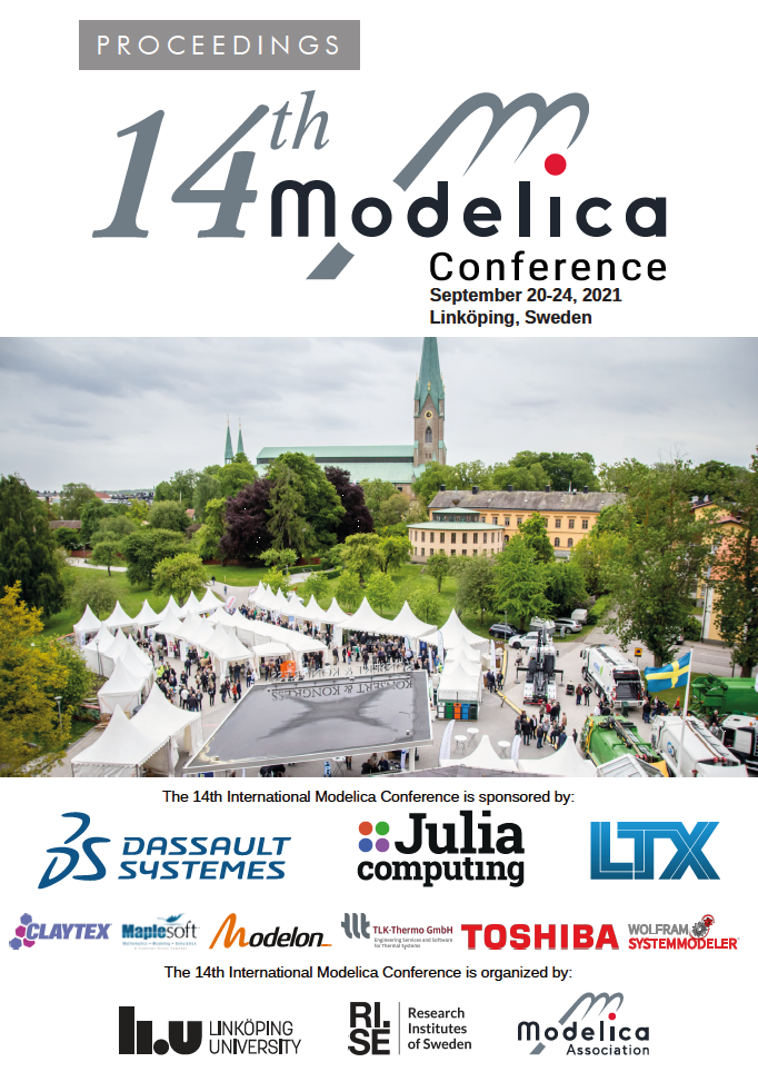 View Proceedings of 14th Modelica Conference 2021, Linköping, Sweden, September 20-24, 2021